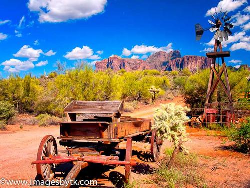 Old Wagon - Apacheland Ghost Town  Arizona Fine Art Photograhy for Sale