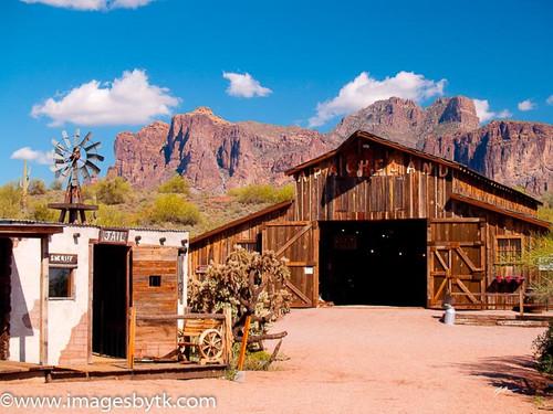Old Barn - Apacheland Ghost Town  Arizona Fine Art Photograhy for Sale