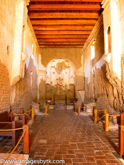Inside Mission Tumacacori  Arizona Fine Art Photograhy for Sale