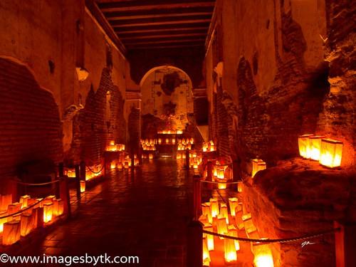 Inside On Luminaria Night - Tumacacori Mission  Arizona Fine Art Photograhy for Sale