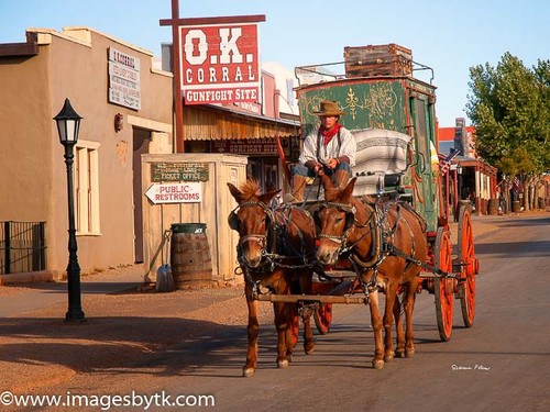 Old Butterfied Stage Coach - Tombstone  Arizona Fine Art Photograhy for Sale