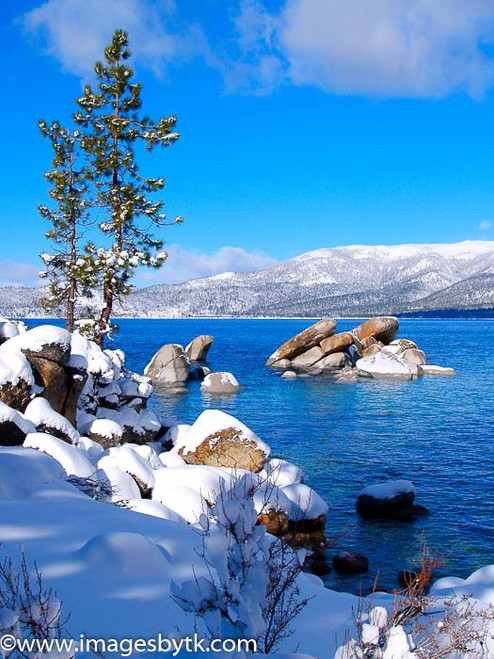 Blue and White - Lake Tahoe  California Fine Art Photograhy for Sale