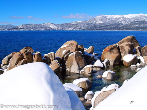 Winter Boulders - Lake Tahoe  California Fine Art Photograhy for Sale