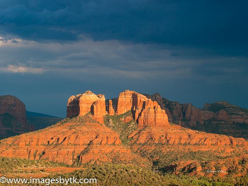 Stormy Cathedral Rock - Sedona  Arizona