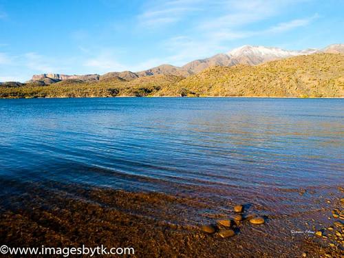 Apache Lake and Snow  Arizona Fine Art Photograhy for Sale