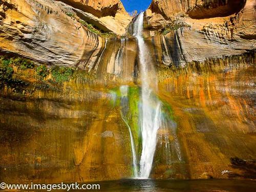 Early Morning Beauty - Lower Calf Creek Falls  Utah Fine Art Photograhy for Sale