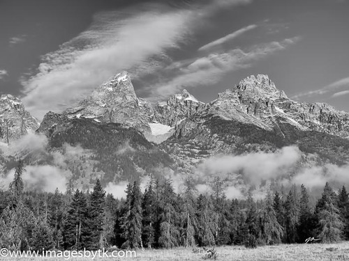 Grand Tetons Black and White - Wyoming Fine Art Photograhy for Sale