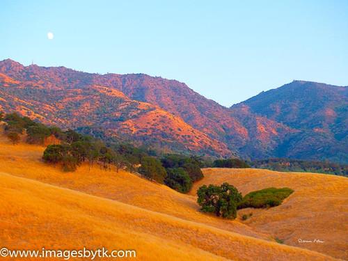Moon Over Mt. Diablo - Mt. Diablo State Park - California Fine Art Photograhy for Sale