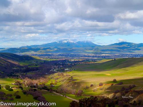 Winter Mt. Diablo From Livermore - California