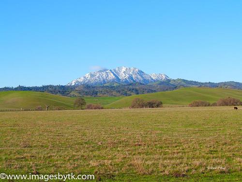Winter Mt. Diablo From Antioch - California Fine Art Photograhy for Sale