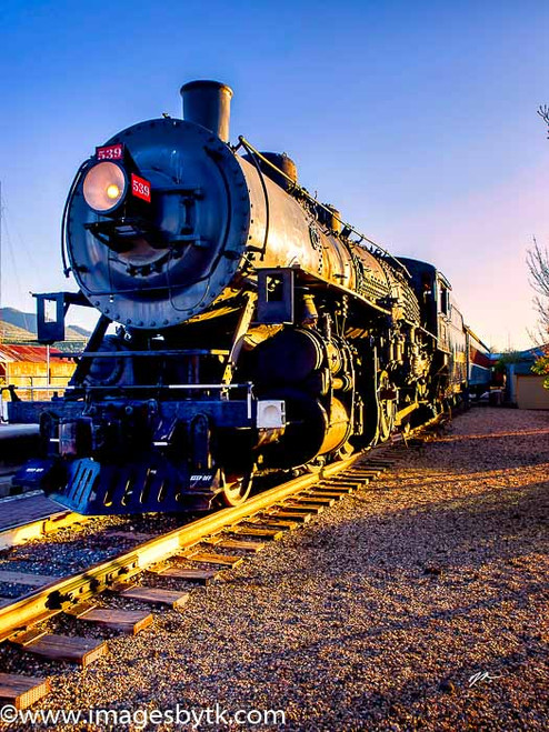 Polar Express - Williams AZ - The Grand Canyon Railway has a great collection of working Steam Locomotives and rolling stock.  This is a photography of one of their Locomotives on display at the depot in Williams