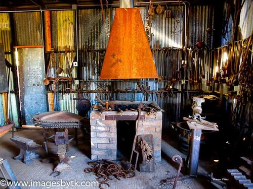Blacksmith Shop - Robson Arizona Mining World Fine Art Photograhy for Sale
