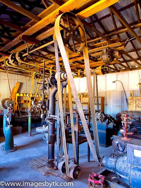 Machine Shop - Robson Arizona Mining World Fine Art Photograhy for Sale