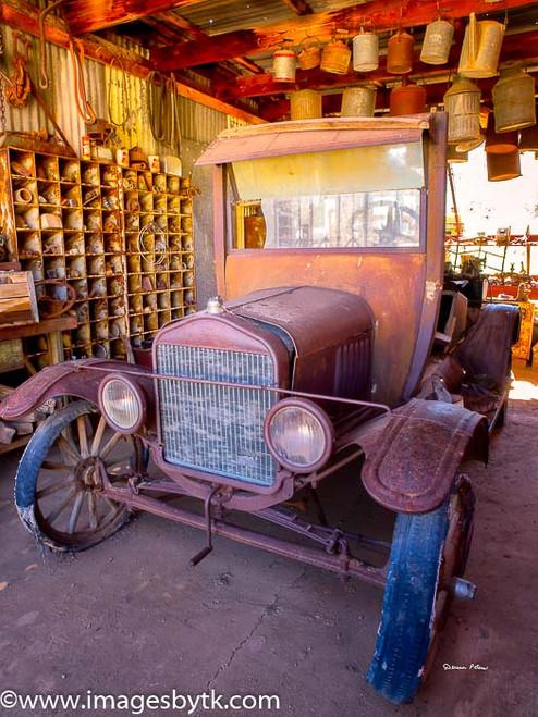 Antique Car - Robson Arizona Mining World Fine Art Photograhy for Sale