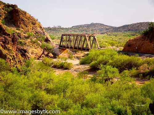 Railroad Bridge Crossing Hassayampa River - Arizona Fine Art Photograhy for Sale