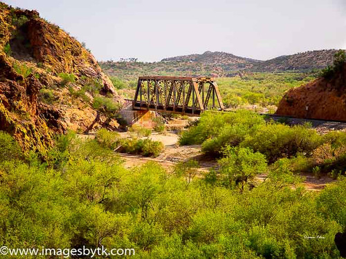 Railroad Bridge Crossing Hassayampa River - Arizona