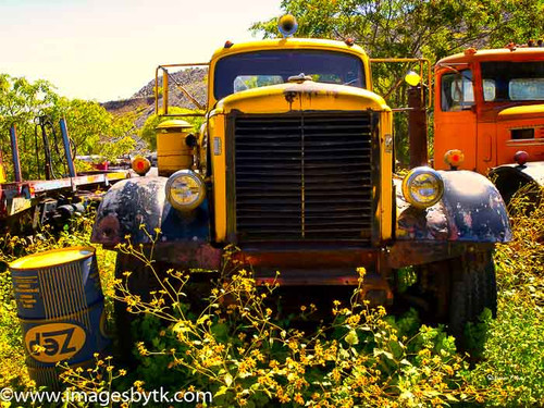Yellow Corbitt Truck - Gold King Mine & Ghost Town
