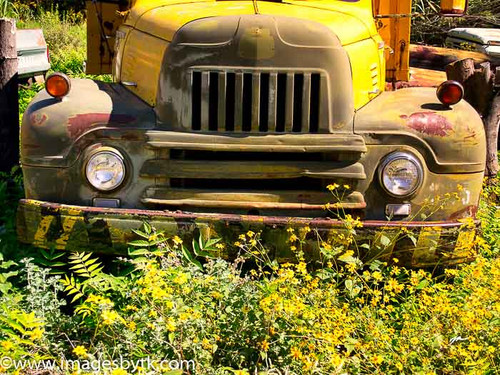 1950's International Truck - Gold King Mine & Ghost Town Fine Art Photograhy for Sale