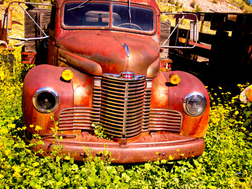 1949 International KB-2 Truck - Gold King Mine & Ghost Town Fine Art Photograhy for Sale