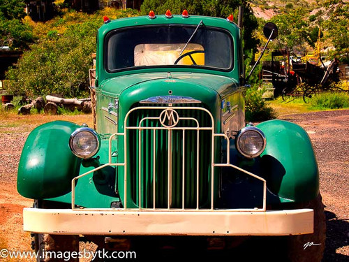 1950's Mack Truck - Gold King Mine & Ghost Town Fine Art Photograhy for Sale