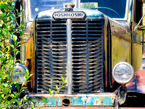 1960's Oshkosh Truck - Gold King Mine & Ghost Town Fine Art Photograhy for Sale