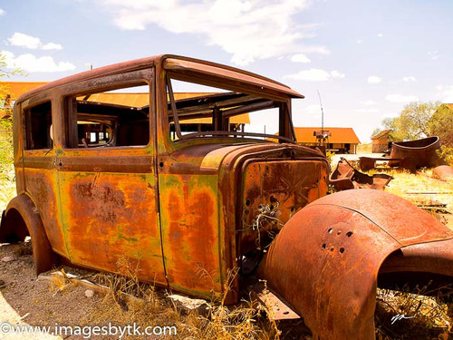 1930 Chevy 2 door Sedan Vulture City, Arizona Fine Art Photograhy for Sale