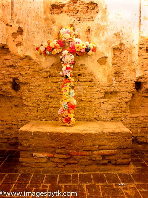 Cross - Mission Tumacacori  Arizona Fine Art Photograhy for Sale