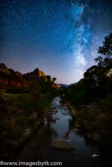 Milky Way over the Watchman - Zion National Park Fine Art Photograhy for Sale