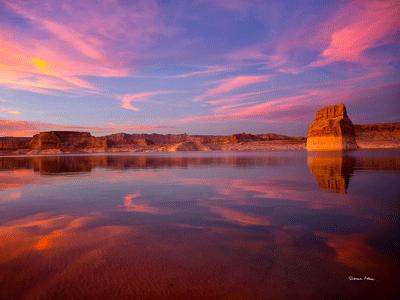 Lake Powell Sunset - Lone Rock Beach Utah