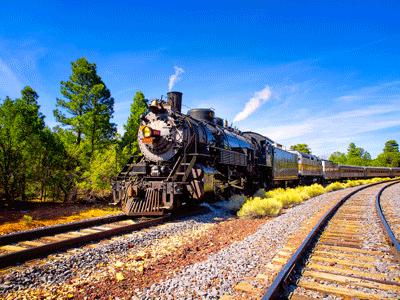 Grand Canyon Railway #4960 Departing Grand Canyon - Arizona