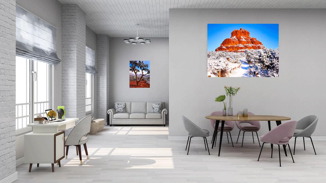 Snowy Bell Rock Pathway - Sedona - Arizona