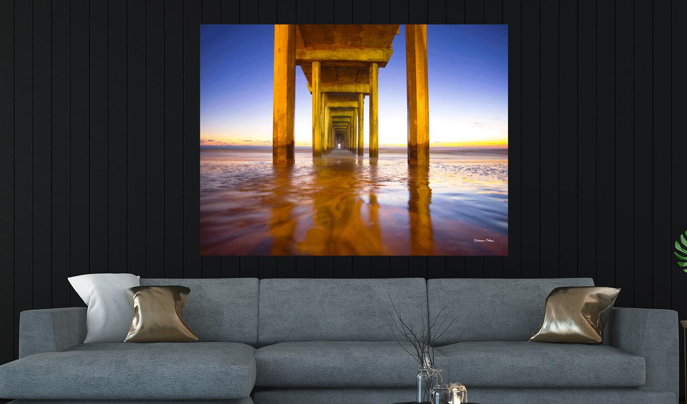 Sunset at Scripps Beach - La Jolla CA