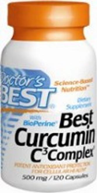 Doctor's Best Curcumin C3 Complex w/BioPerine® 500mg 120 Capsules