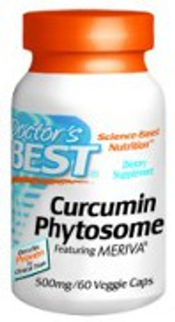 Doctor's Best Curcumin Phytosome featuring Meriva® 500mg 60 Vegetarian Capsules