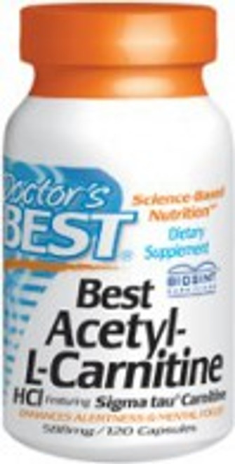 Doctor's Best Acetyl-L-Carnitine 588 mg) 60 Capsules