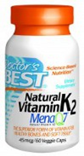 Doctor's Best Natural Vitamin K2 MenaQ7 45mcg 60 Capsules