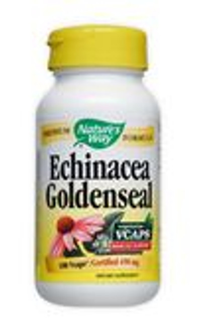 Nature's Way Echinacea & Goldenseal Formula supports the immune system with a balanced blend of powerful herbs.