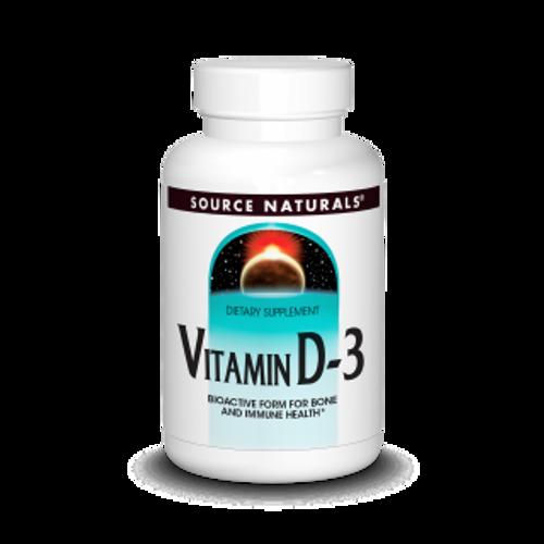 Source Naturals Vitamin D-3 5000 IU 240 Capsules