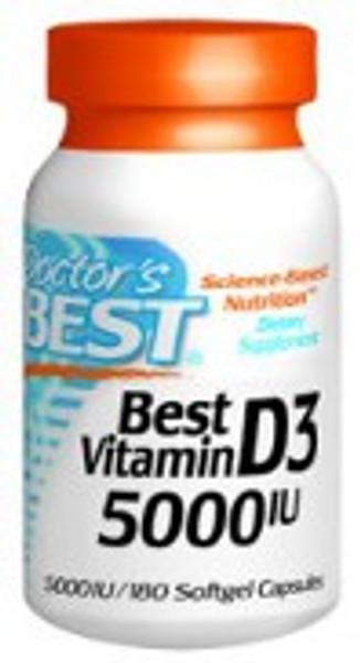 Doctor's Best Vitamin D3 5000IU 360 Softgels