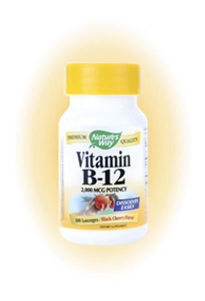 Nature's Way Vitamin B12 100 Lozenges 2 mg (2,000 mcg) per lozenge