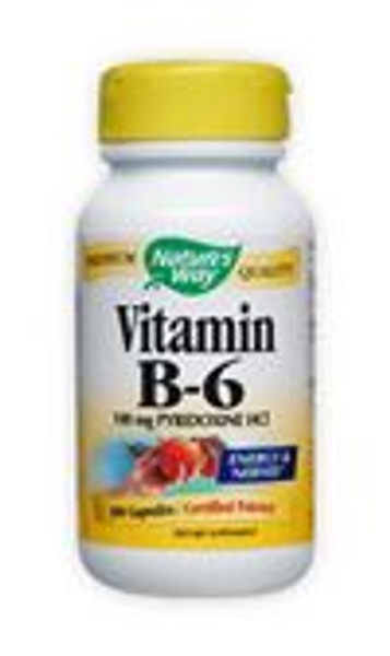 Nature's Way Vitamin B-6                                                   100 mg - 100 Capsules                                      Best By Date 11/30/2015