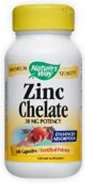 Nature's Way Zinc Chelate 30 mg - 100 Capsules