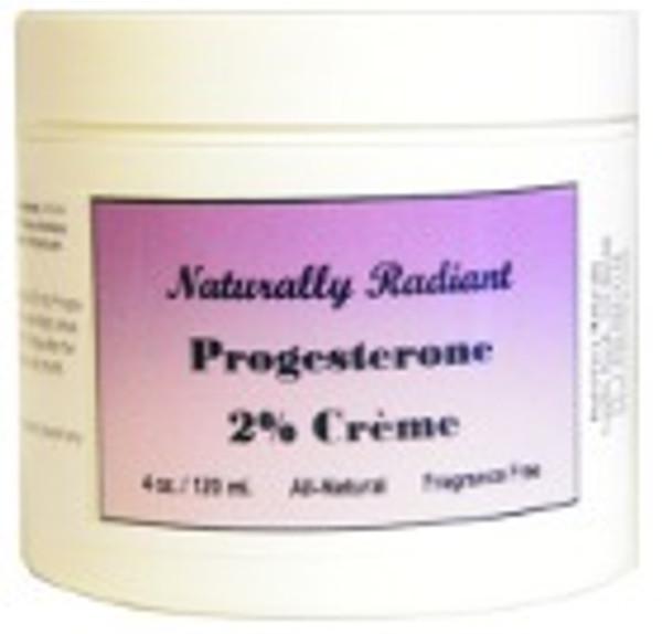 Naturally Radiant Natural Progesterone Cream 4oz