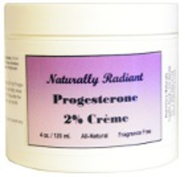 Naturally Radiant Natural Progesterone Cream 4oz