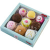 HABA Biofino Soft Petit Fours Set of 9 Plush Desserts - Perfect for Pretend Tea Parties