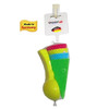 Spielstabil Ice Cream Duo in net - 4 Plastic Cones & Scooper Toy for Use in The Sand or with Real Food (Made in Germany)