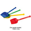 Spielstabil Short Handled Classic Children's Spade - Sold Individually - Colors Vary (Made in Germany)