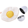 HABA Biofino Soft Fabric Fried Egg in Metal Shell Washable Plush Play Food