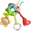 HABA Clutching Figure Rainbow Worm - Machine Washable Plush Ring with Dangling Elements for 6 Months +