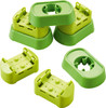 HABA Kullerbu Expansion Set - Connectors and Base - 8 Piece Set for Elevated Layouts